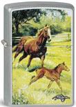 Original Zippo Mamas Pride, Stute mit Fohlen, farbiger Aufdruck