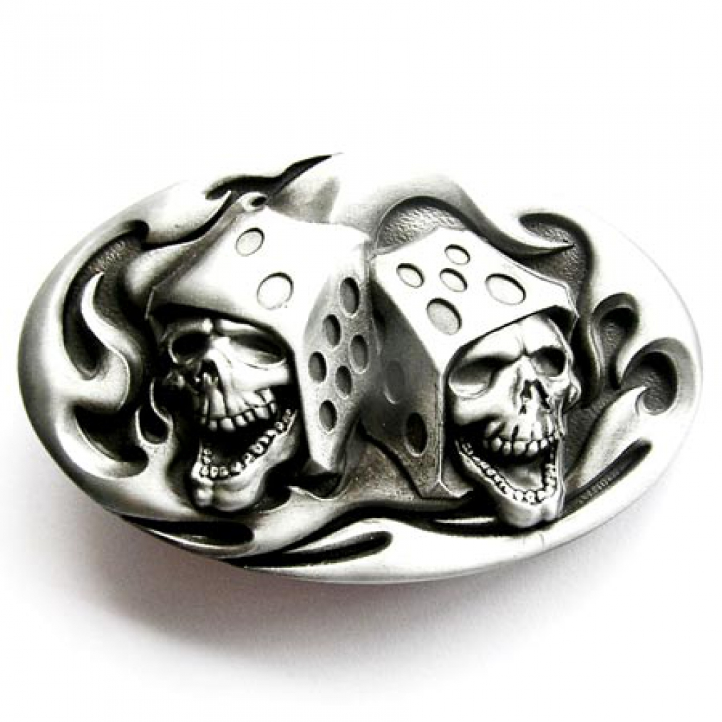buckle skull dice gambler totenkopf g rtelschnalle ebay. Black Bedroom Furniture Sets. Home Design Ideas