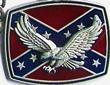 Geldbeutelkette mit dem Motiv Rebellenflagge und Adler