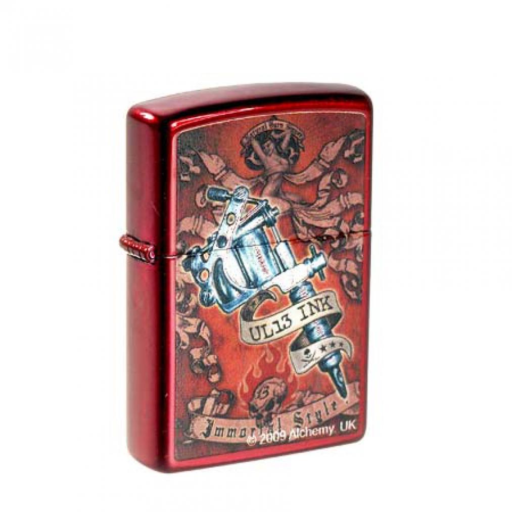 Original zippo ul 13 ink tattoo pistole blutrot ebay for Ebay tattoo ink