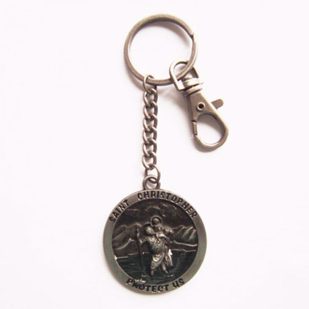 Schlüsselanhänger - Heiliger Christophorus - Protect us