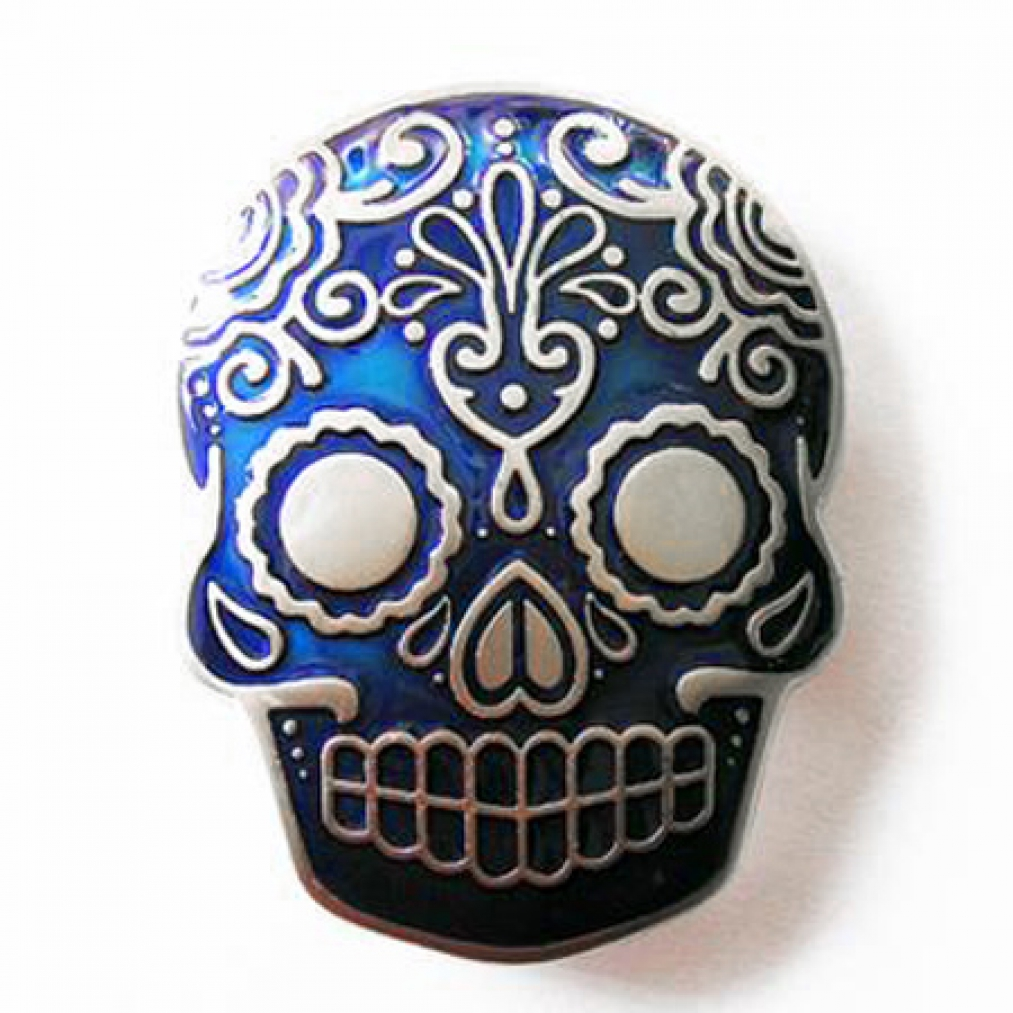 Buckle-Totenkopf-Tattoo-Tribal-blau-Guertelschnalle