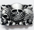 Buckle Totenkopf, Skull, blind taub & stumm, Gürtelschnalle