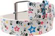 Känguru Star Fashion-Gürtel mit Totenkopf und Sternen, nur Größe S