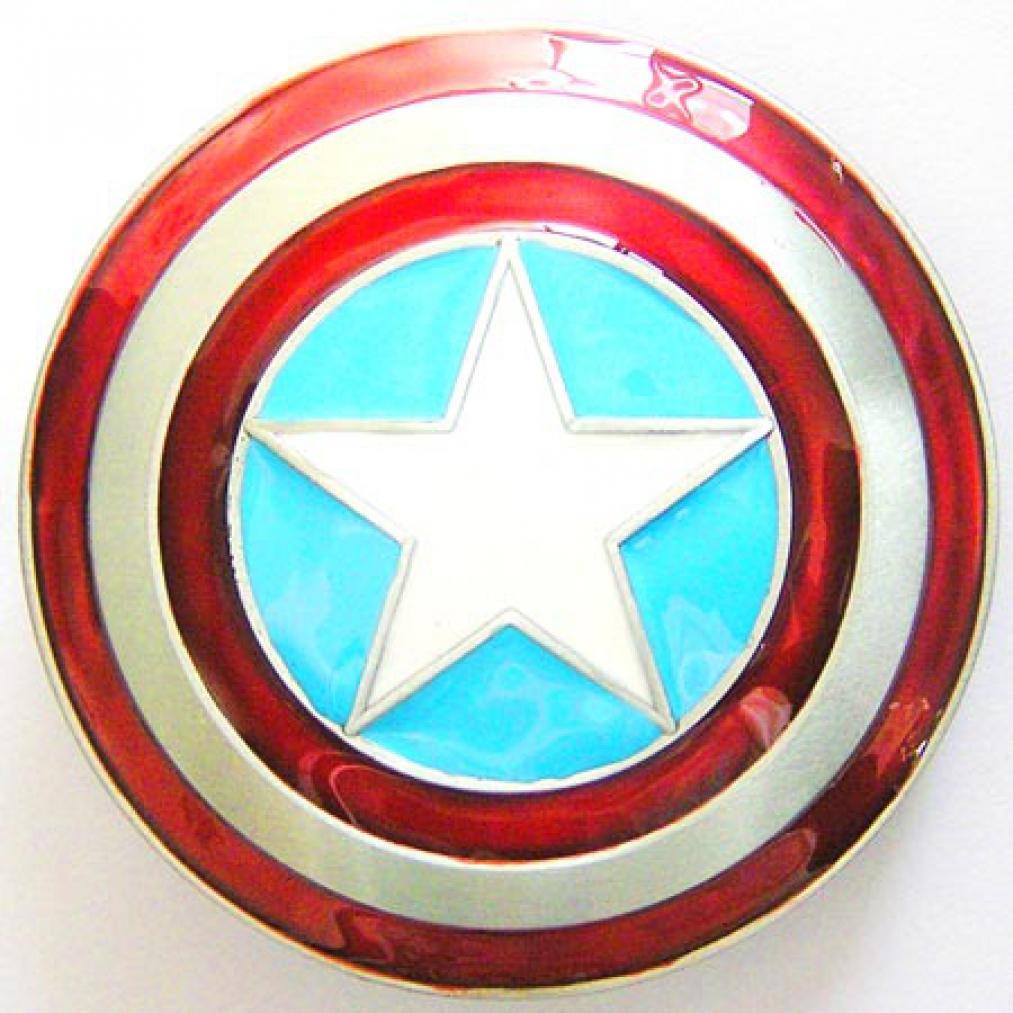 buckle superheld captain america schild g rtelschnalle ebay. Black Bedroom Furniture Sets. Home Design Ideas