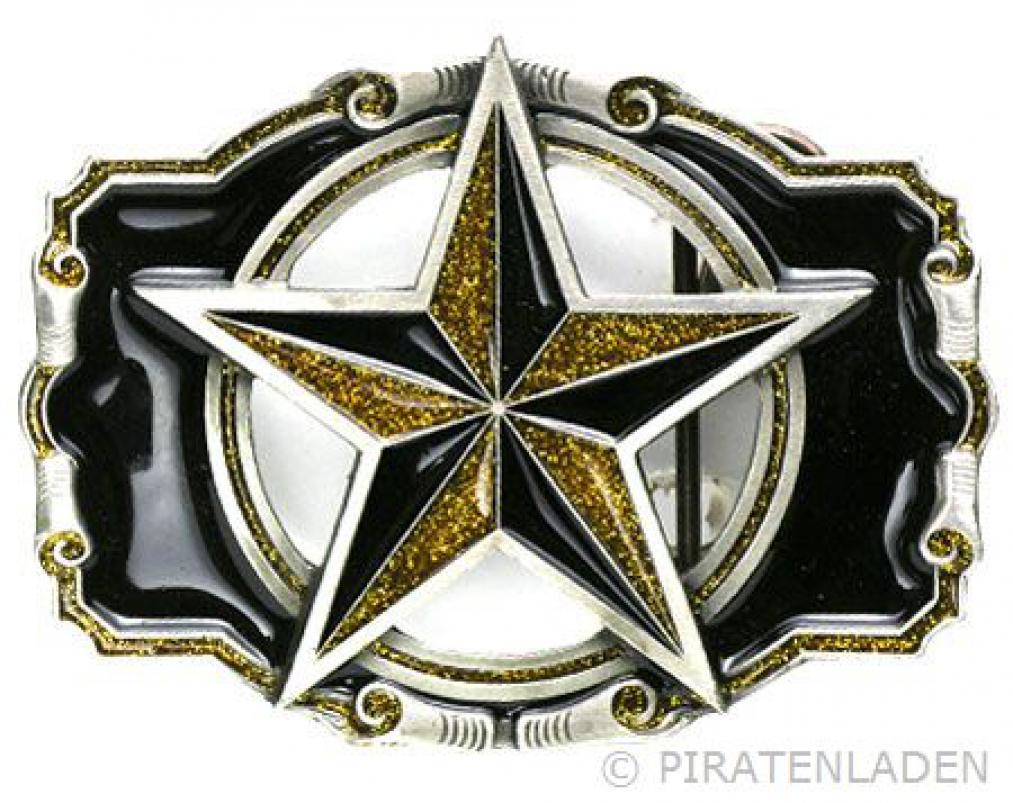 Buckle als Nautischer Stern, Tattoo Gürtelschnalle