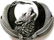 Buckle Wolf bei Vollmond, schwarz, Gürtelschnalle