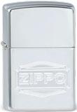 Original Zippo Logo - zurückhaltende Eleganz - Hochglanz poliert