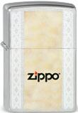 Original Zippo with Border / Zippo ohne Grenzen mit Aufdruck und Gravur