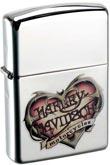 Original Zippo mit Harley Davdison Herz, Tattoo-Style