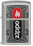 Original Zippo Black/Red Chrome, Flamme, satiniert